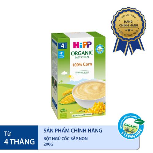 Bột ngũ cốc HiPP Organic bắp non