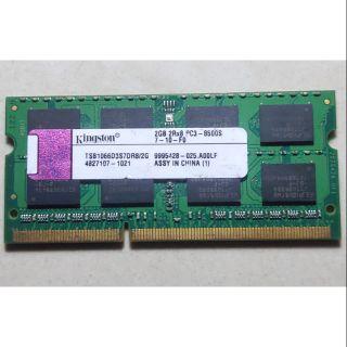 Ram laptop DDR3 2GB bus 1066 chính hãng Kingston