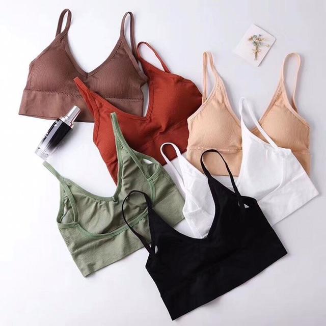 Áo bra len tăm💝💝FREESHIP💝💝 hở lưng khoét lưng dáng u
