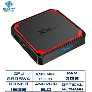 [Mã ELMS5 giảm 7% đơn 300K] Android TV Box X96 Mini+ Ram 2GB, Rom 16Gb, Amlogic S905W4, Android 9