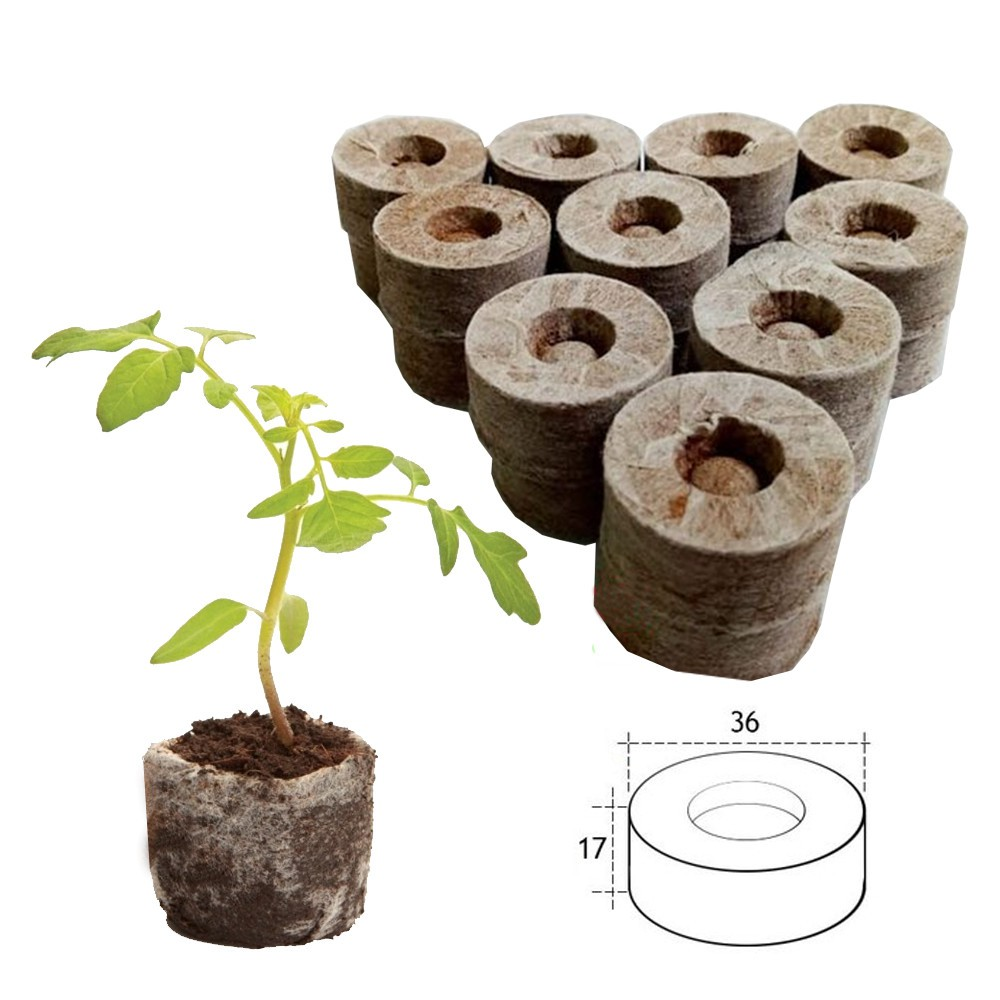 100 viên nén xơ dừa dùng để gieo hạt trồng cây - Free ship đơn trên 50k