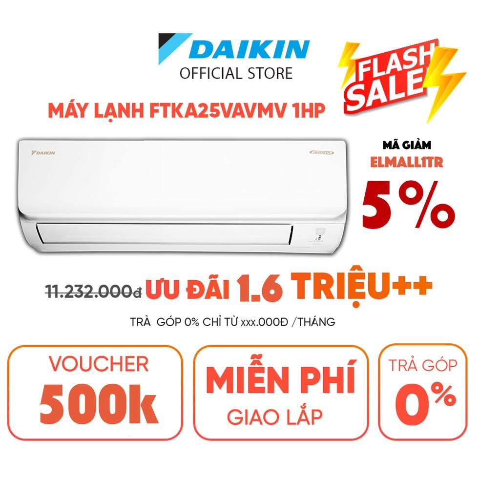 Máy Lạnh Daikin Inverter FTKA25VAVMV 1HP (9000BTU) - Tiết kiệm điện Luồng gió Coanda