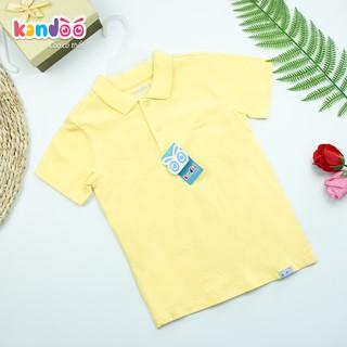 Áo polo ngắn tay bé trai KANDOO, thoải mái hoạt động, 100% cotton cao cấp mềm mịn, thoáng mát, an toàn cho bé-DB16PS01