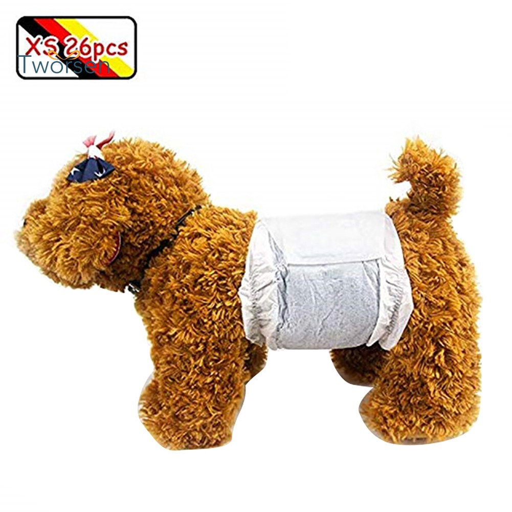 Tworsen Disposable Male Dogs Absorbent Soft Nappies Pants Wrap