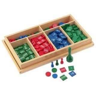 Giáo cụ Montessori – Trò chơi với các tem số (Stamp Game)