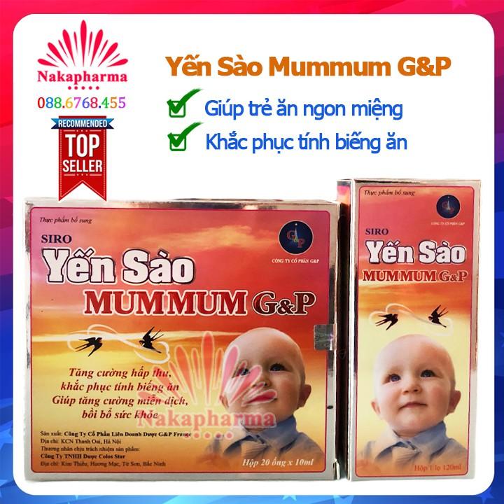 Siro Yến Sào Ăn Ngủ Ngon Gold G&P | Yến sào Mummum GP - Giúp bé ăn ngon miệng, bồi bổ sức khỏe, tăng cường hệ miễn dịch