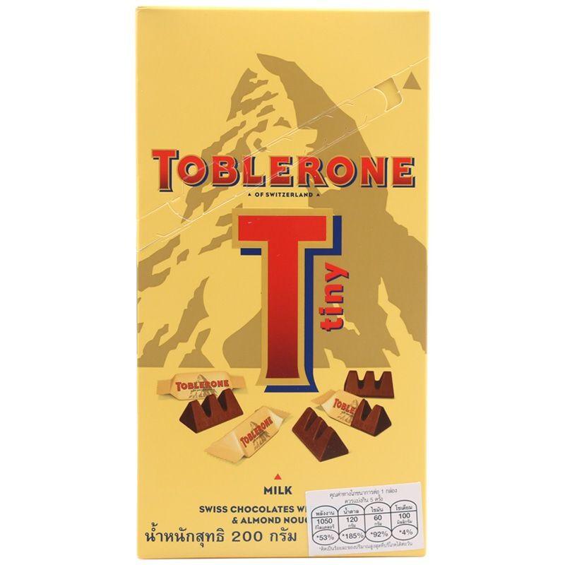 ทอปเบอโรนช็อกโกแลตนมวันบายวัน 200กรัม Chocolates ช็อกโกแลตส์ ขนมขบเคี้ยว อาหารสำหรับเด็ก