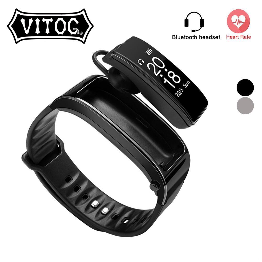Vòng Tay Thông Minh Vitog Y3 Tích Hợp Tai Nghe Bluetooth Đeo Một Bên Độc Đáo Tiện Dụng