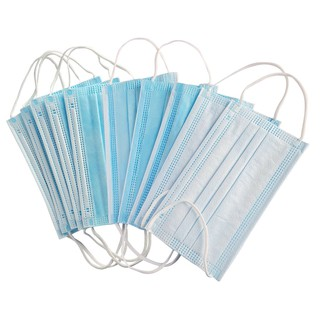 Khẩu trang y tế 4 lớp kháng khuẩn túi 10 chiếc màu xanh chống dịch cực tốt, chống bụi mịn, chăm sóc sức khỏe thumbnail