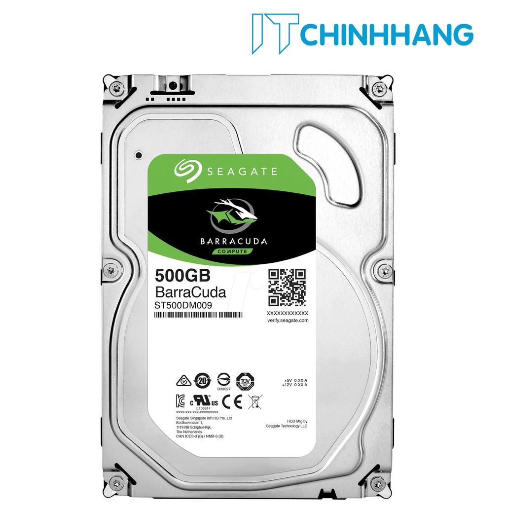Ổ cứng gắn trong HDD Seagate 500Gb - SATA 3 - HÃNG PHÂN PHỐI CHÍNH THỨC