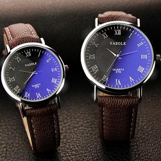 Đồng hồ đôi dây da tổng hợp Yazole PKHRYA004 thumbnail