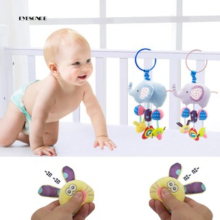 ♕Cartoon Elephant Animal Baby Rattle Toy Bed Hanging Wind Chimes Plush Dolls