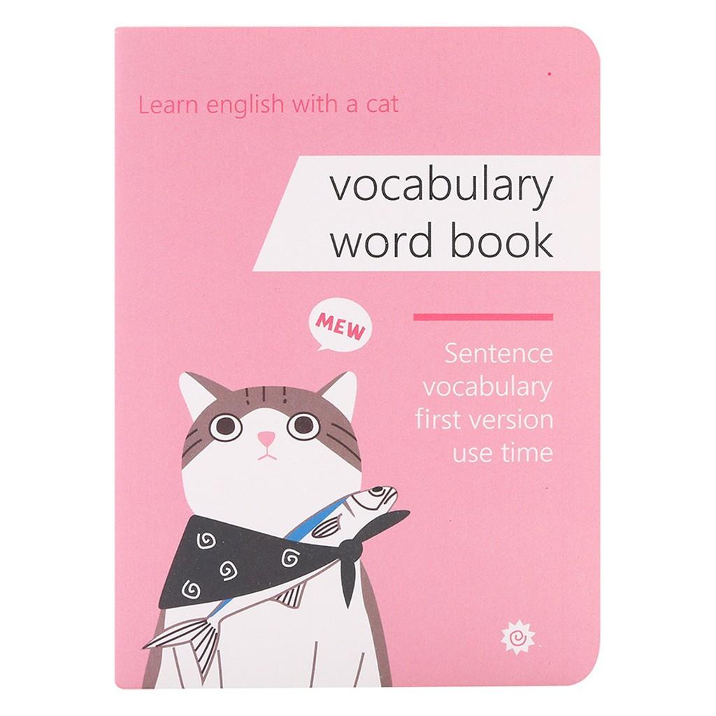 [Mã BM11COOL giảm 10% đơn bất kỳ] Sổ Học Từ Vựng Ghi Nhớ Nhanh Cùng Chú Mèo (11.2 x 8.2 x 2 cm)