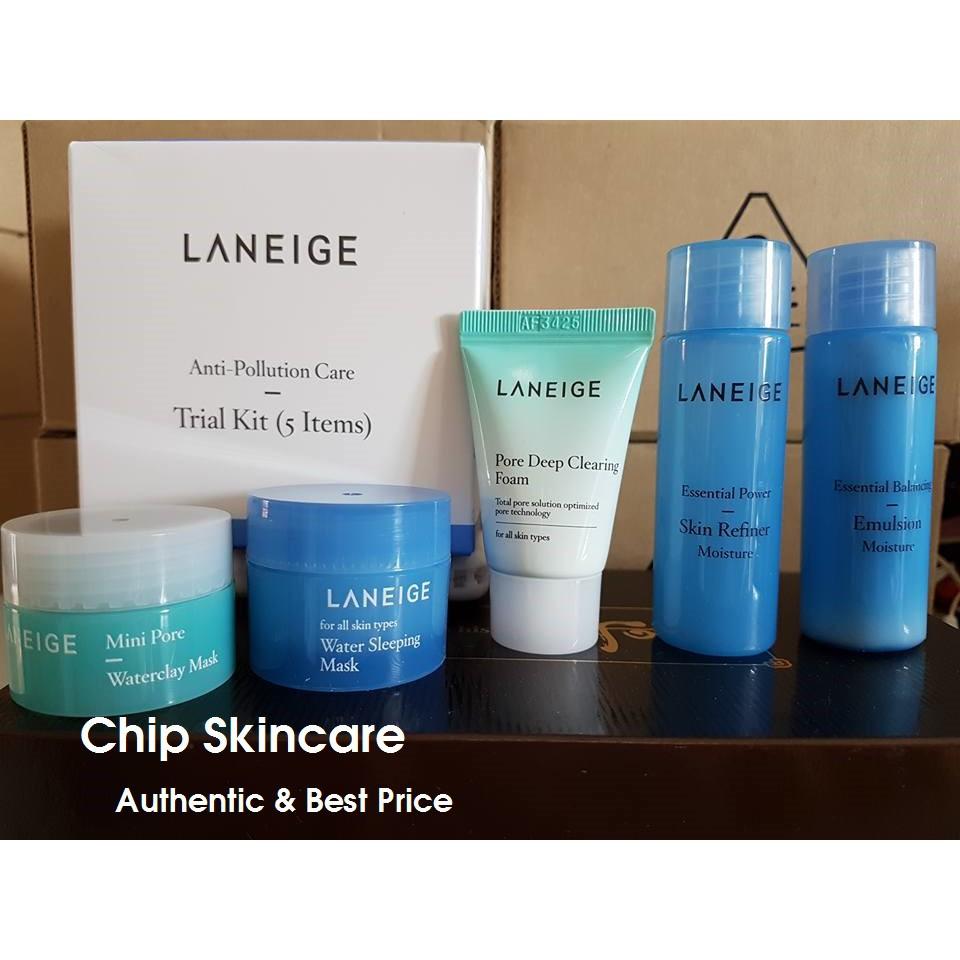 Kit 5 sản phẩm Laneige Anti-Pollution Care Trial Kit