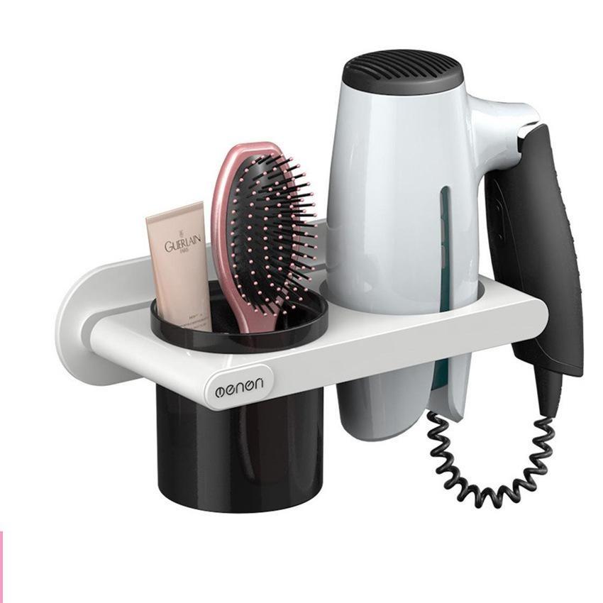 Giá Để Máy Sấy Tóc OENON tặng cốc để đồ chất liệu nhựa ABS, Kệ treo máy sấy - OE86