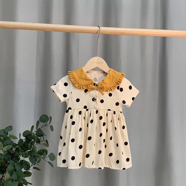 Váy chấm bi bé gái mềm mát