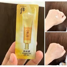 [Date 2023] Gói kem chống nắng chống nhăn Whoo vàng - WHOO JIN HAE YOON WRINKLE SUN CREAM SPF50+/PA+++