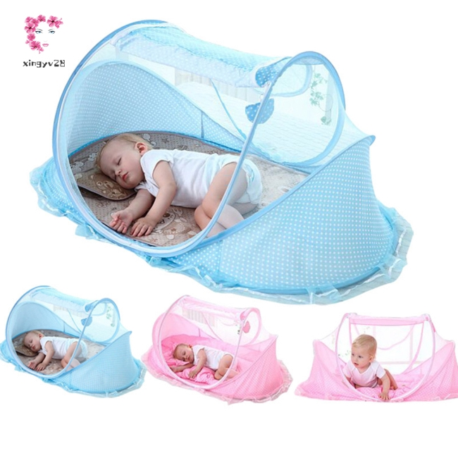 Kids Baby Folding Single Opening Mosquito Net Set