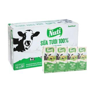 48 Hộp x 180ml Nuti Sữa Tươi 100% Có Đường – Hàng Chính Hãng NutiFood