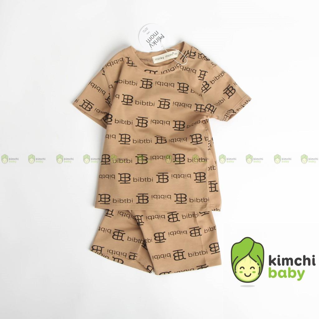 Đồ Bộ Bé Trai, Bé Gái Minky Mom Vải Cotton 100% Họa Tiết Billion Bitcoin Sang Chảnh, Bộ Cộc Tay Cho Bé Mùa Hè MKM2119