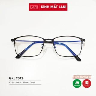 Gọng kính nam nữ thời trang dáng chữ nhật chất liệu kim loại thanh mảnh Lani 9042 - Lắp Mắt Cận Theo Yêu Cầu thumbnail