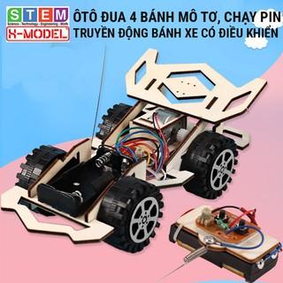 Đồ chơi sáng tạo STEM ô tô đua đồ chơi gỗ có điều khiển từ xa XMODEL ST76,Đồ chơi DIY[Giáo dục STEM STEAM]