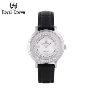 [ROYAL CROWN CHÍNH HÃNG] Đồng hồ nữ Chính Hãng Royal Crown 3638 Dây da đen thumbnail