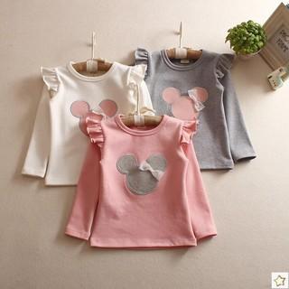 Áo Thun Tay Ngắn In Hình Chuột Mickey Thời Trang Dành Cho Bé