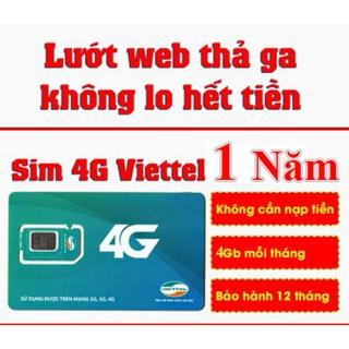 [RẺ QUÁ RẺ] Sim 3G 4G Viettel dùng trọn gói 1 năm 4GB/tháng D500