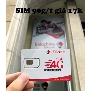 Sim Itelecom mạng sim 4G Vinaphone gói 3GB/ngày (90GB/tháng)