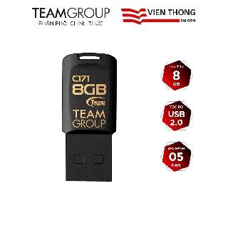 USB 2.0 Team Group C171 8GB chống nước Taiwan (Đen) - Hãng phân phối chính thức
