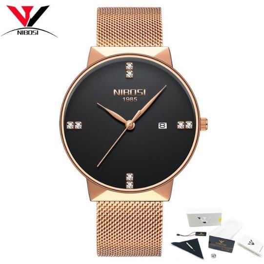 Đồng hồ nam dây lưới thép cao cấp Nibosi 2323 (fullbox)