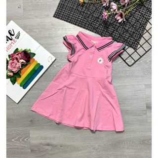 Đầm thun cotton bé gái  hoa cúc hồng