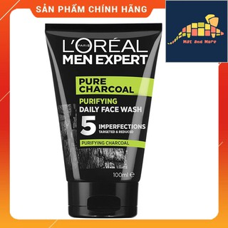 [CHÍNH HÃNG] Sữa rửa mặt 5 tác động L'Oreal Men Expert Pure Carbon Purifying Daily Face Wash 100ml
