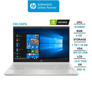 Laptop HP Pavilion 15-cs1081TX (5RL50PA) i5-8265U | 4GB | 16GB + 1TB | VGA MX130 2GB | 15.6