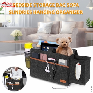 HW Large Capacity Bedside Storage Bag Sundries Hanging Bag Household Sofa Items Organizer Bags