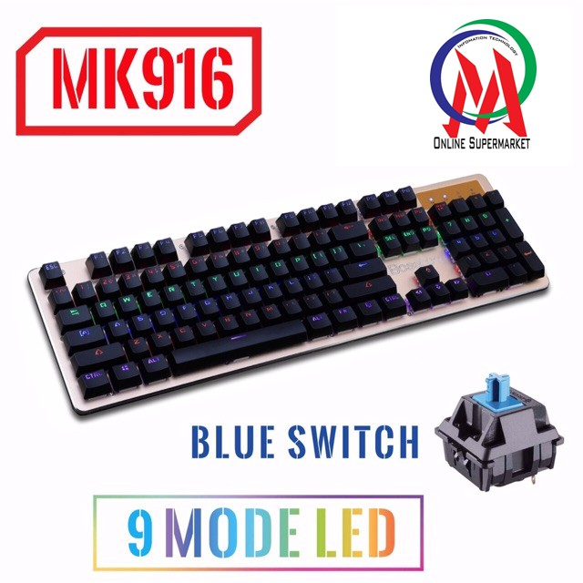 Bàn phím cơ Bosston MK916 Led