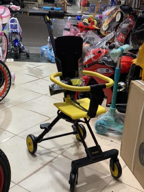 Xe đẩy đi bộ playkid gập siêu gọn nhẹ mang đi du lịch