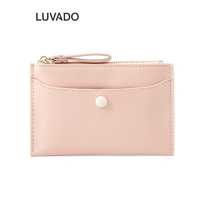 Ví nữ thời trang ngắn cầm tay mini đẹp TAOMICMIC cao cấp nhiều ngăn nhỏ gọn bỏ túi LUVADO VD386
