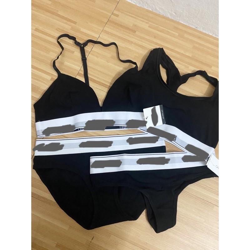 (Có sẵn) Set đồ lót thể thao có mút quần tam giác và lọt khe