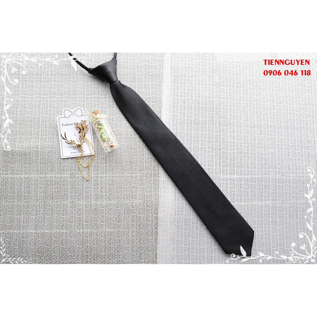 Cà vạt nam bản nhỏ - cavat vạt thắt sẵn - 5