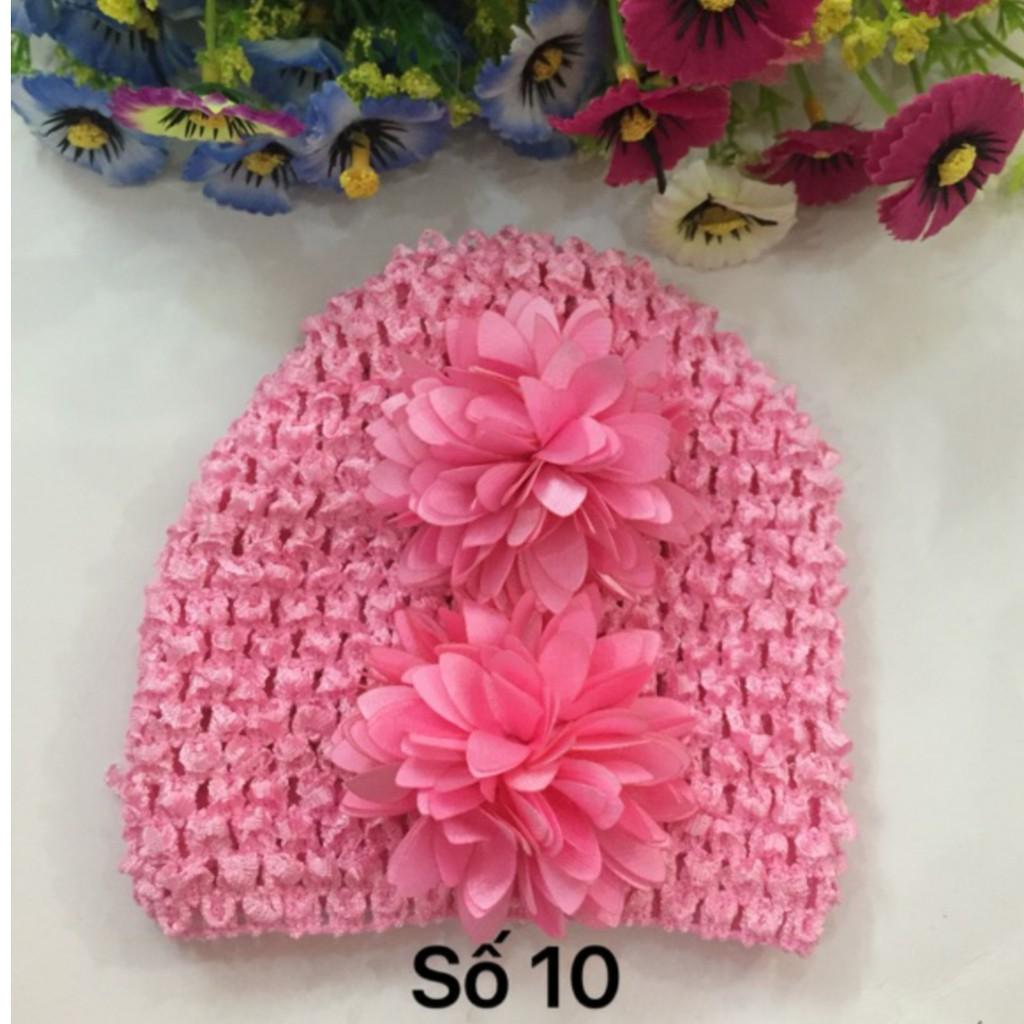 Băng đô nón hoa cực xinh cho bé