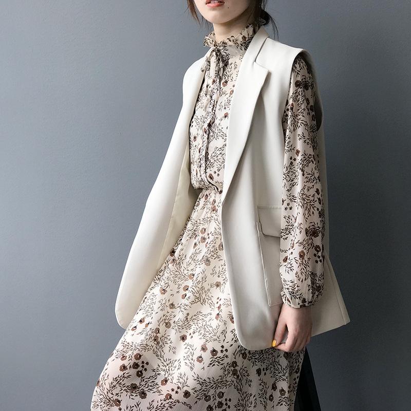 Áo Khoác Vest Mỏng Dáng Dài Rộng Phong Cách Anh Quốc Cho Nữ