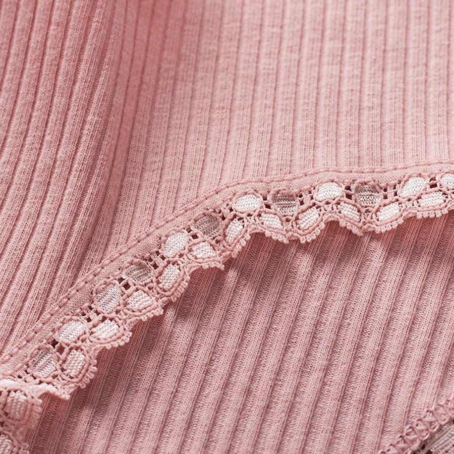 Combo 5 quần lót nữ gân tăm, 5 màu, chất liệu cotton thấm hút mồ hô