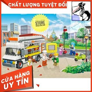 Lego Jie Star 20538 Lắp Ráp Xe Bán Tải Bán Hàng Lưu Động – Luxury Dining Car ( 459 Mảnh ) [ Hàng Có Sẵn ]