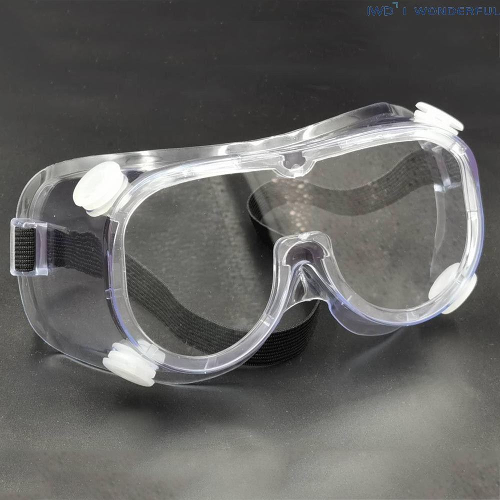 IWD Safety Glasses Anti-Fog Goggles Adjustable Eyewear Eye Protectors from Flying Particles Liquid Splatter Dust Wind Chemical Fumes Splash Unisex Eye Shield Spectacles