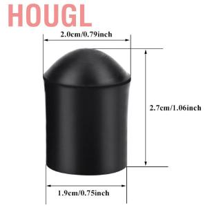 Hougl 2pcs Double Bass Endpin Rubber Tip Stopper Black Protector End Cap Accessory