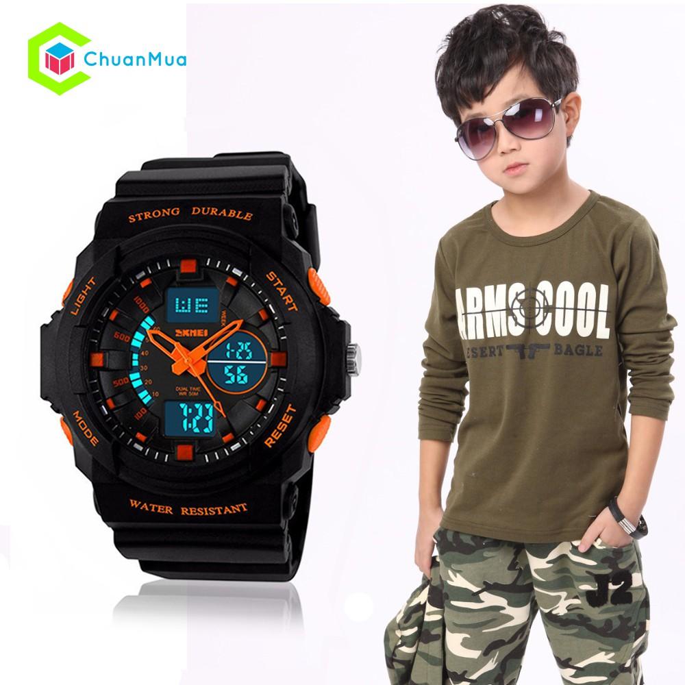 Đồng hồ Bé Trai Skmei 1061 Strong Durable Size S Nhỏ DHA455 - Kim Cam