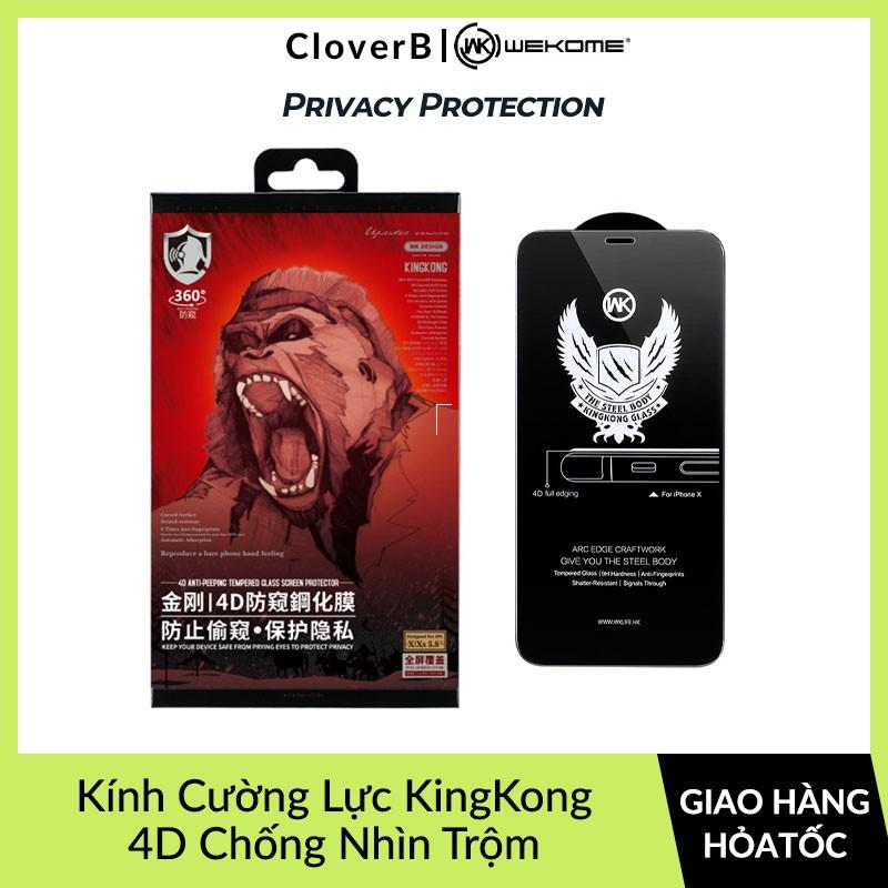 Kính Cường Lực King Kong Chính Hãng Chống Nhìn Trộm Dùng Cho iPhone 7/ 8/ X/ Xs/ Xs Max/ 11/ 11 Pro/ 11 Pro max
