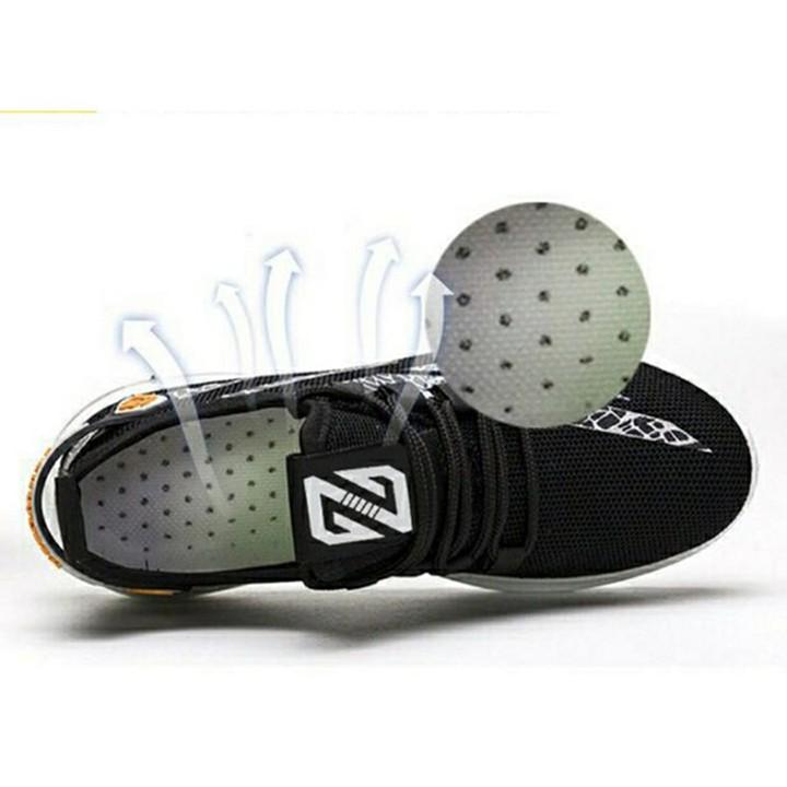 Giày vải buộc dây đế cao su dễ đi thích hợp chạy bộ